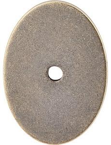 "Large Oval Backplate 1 3/4"" - German Bronze modern-knobs"