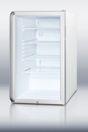 "SCR450LBISH 20"" 4.1 cu. ft. Refrigerator With Factory Installed Lock  Glass Door contemporary-refrigerators-and-freezers"