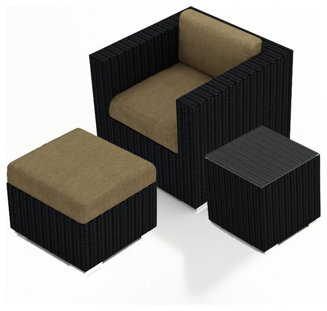 Urbana 3 Piece Outdoor Club Chair Set, Heather Beige Cushions modern-patio-furniture-and-outdoor-furniture