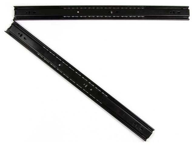 14 Inch Black Coated Full Extension Ball Bearing Drawer Slide - Modern - Kitchen Drawer ...
