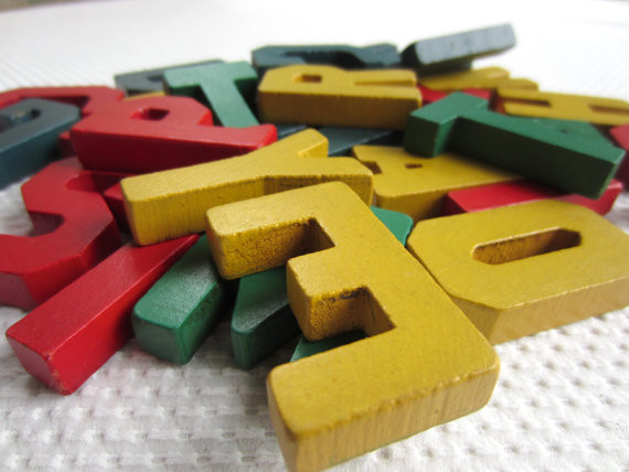 Vintage Wooden Letters by Corr Nucopia traditional-kids-decor