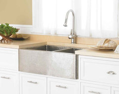 Farmhouse Duet Brushed Nickel traditional kitchen sinks