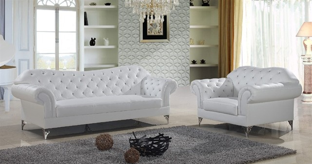 Lyndon classical tufted sofa set modern living room furniture sets