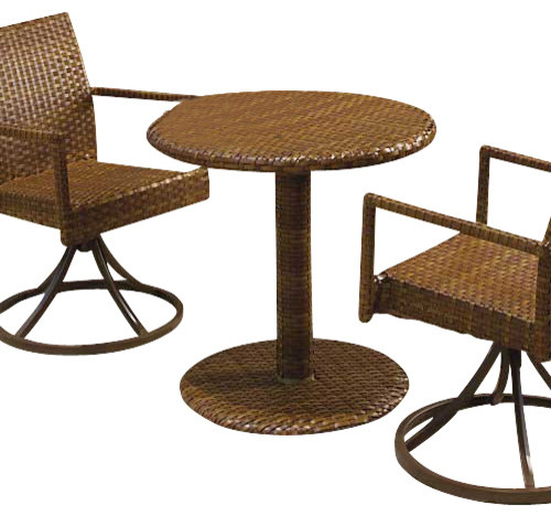 Panama Jack St Barths 3 Piece Bistro Side Chair Set traditional-patio-furniture-and-outdoor-furniture