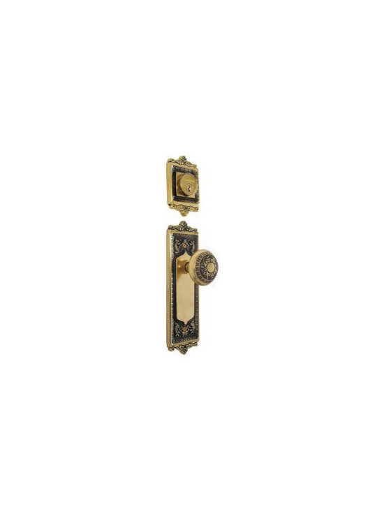 Vintage Hardware - This Vintage Door Hardware Egg and Dart Handle set with Knob is a beautiful way to accent your home. Available in different finishes for your convenience. Constructed from forged brass and easy to install for the unique style that you're looking for.