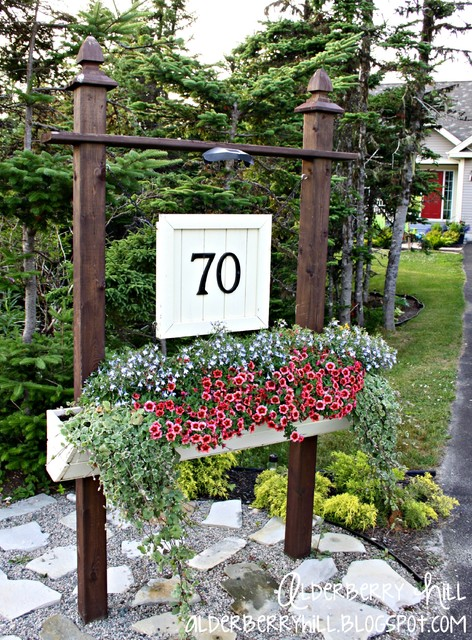 DIY House Number Sign - Traditional - Outdoor Products - other metro