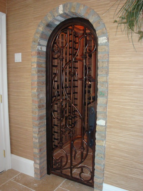 Forge iron designs wrought wine cellars
