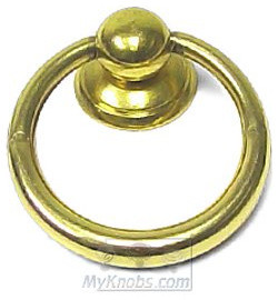 Old World Classic Hardware Ring Pull - Small in Old Polished Brass traditional pulls