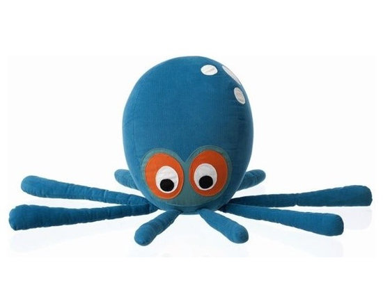 Ferm Living Octopus Pillow - A friend for owl, the Octopus Pillow by Ferm Living is an adorable animal that you can dance around with or give a hug.