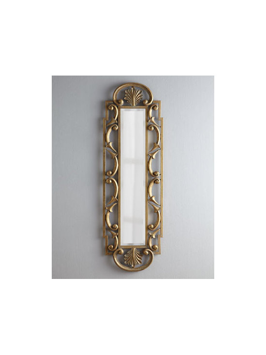 Horchow - Traditional Iron Dressing Mirror - Whether you want to check your appearance before you head out for the day or evening or provide a divine focal point for a room, this elegant dressing mirror is an ideal choice. An open frame dressed in elaborate scrolls with an oversized acanthus leaf....
