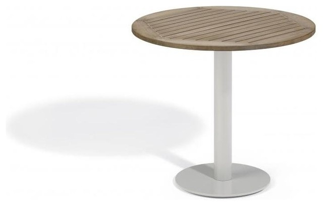 Travira 32 Bistro Table, Tekwood Vintage contemporary-outdoor-pub-and-bistro-tables