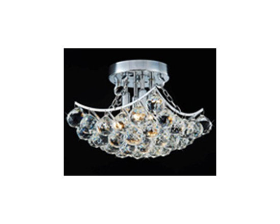 WAREHOUSE OF TIFFANY - Christina Crystal-Chrome Hanging - Christina Crystal Chrome Hanging