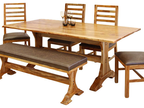 Artisan Home Guamuchil Rectangular Trestle Dining Table in