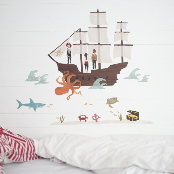 Pirate Ship Decal eclectic kids decor