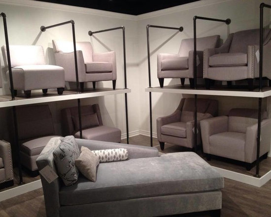 Toronto Showroom 2014 - The chair wall & Miranda chaise in our Toronto Showroom!