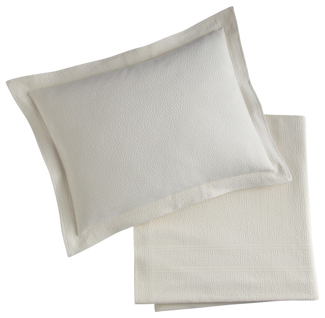 Montauk Sham, Pearl, Standard contemporary-pillowcases-and-shams