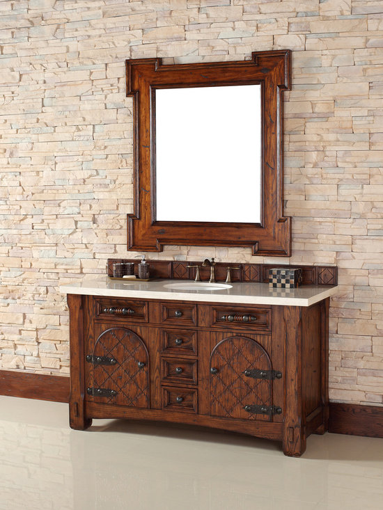 """James Martin 60"""" Marrakesh Single Solid Wood Bathroom Vanity 450-V60S-RAM - James Martin 60"""" Marrakesh Single Solid Wood Bathroom Vanity 450-V60S-RAM from the NEW collection - See more at: http://www.homethangs.com/bathroom-vanities/james-martin/p/james-martin-450v60sram.html#sthash.p32MfXm8.dpuf"""