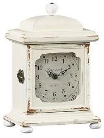 Shabby French Table Clock traditional-clocks