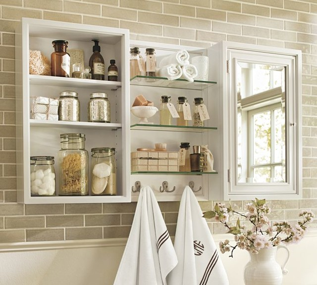 Modular Wall Storage White Traditional Display And