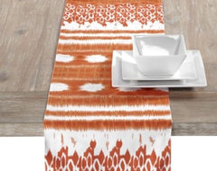 Kamal Runner, Orange contemporary table linens