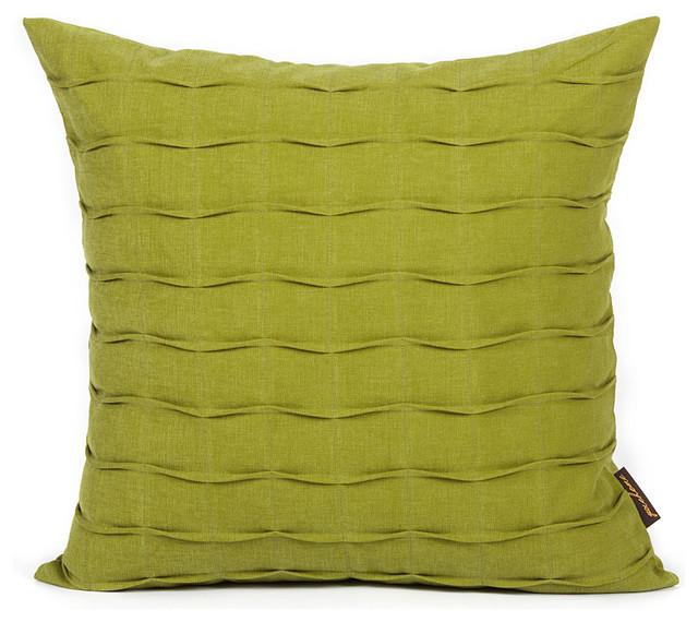 Olive Green Hand-Crafted Pintuck Pillow modern-decorative-pillows