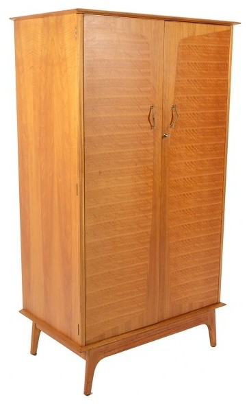 Mid Century Modern Alfred Cox Mahogany Armoire midcentury-armoires-and-wardrobes
