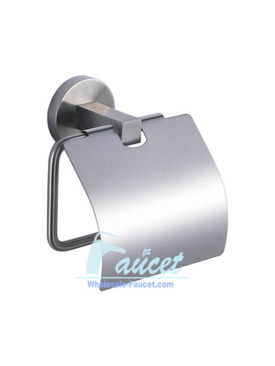 Toilet Paper Holder - Toilet Paper Holder in Stainless Steel adds luxury to your bathroom accessories. This toilet paper holder is made of Stainless Steel with Stainless Steel  finish. It is designed to hold 1 roll of toilet paper