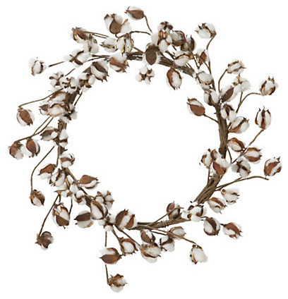 Cotton Wreath modern accessories and decor