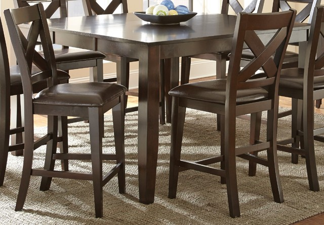Counter Height Leaf Table : ... Counter Height Table with Self Storing Leaf contemporary-dining-tables