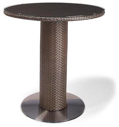 "Solstice 42"" Round Pedestal Bar Table, Patio Furniture contemporary-indoor-pub-and-bistro-tables"