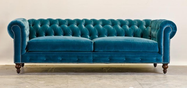 Pavo Velvet Chesterfield midcentury-sofas-and-sectionals