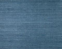 Sisal Twill Blue Grasscloth Wallpaper traditional-wallpaper