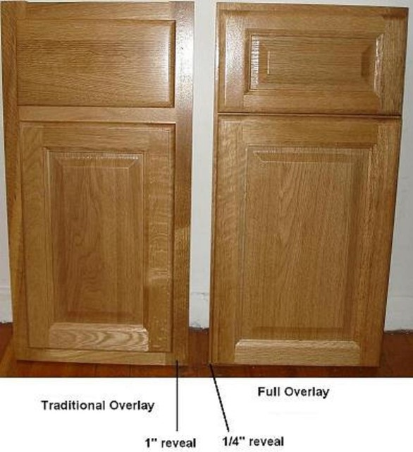 Full Overlay Cabinet Doors - Traditional - Kitchen ...