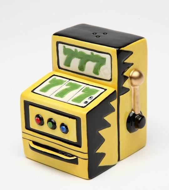 Yellow Slot Machine Showing Lucky Sevens Salt and Pepper Shakers - Eclectic - Tabletop - by ...