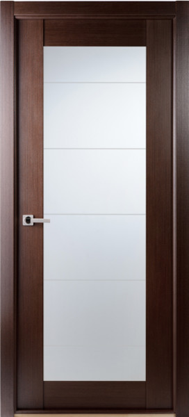 Contemporary African Wenge Interior Single Door Lined Frosted Glass - Contemporary - Interior ...