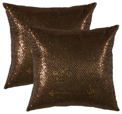 Belle Pillow Set - Cocoa contemporary pillows