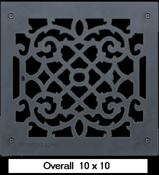 Black Cast Aluminum Heat Register traditional-grills-and-griddles