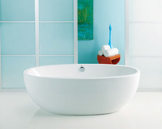Contura II by Americh - 72 x 40 Freestanding Acrylic Tub with Drain