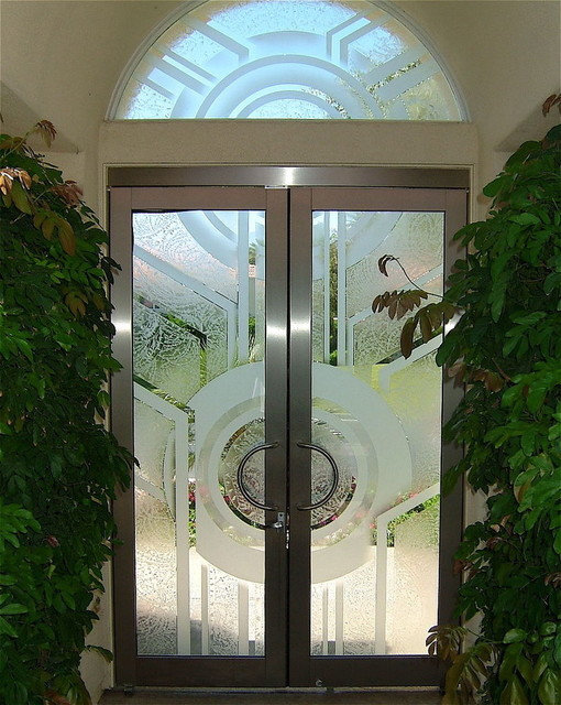 Glass Doors Sun Odyssey by Sans Soucie contemporary front doors