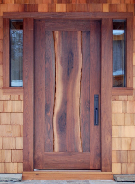 NEWwoodworks Live Edge Fine Woodworking - Rustic - Front Doors - new york - by NEWwoodworks Fine ...