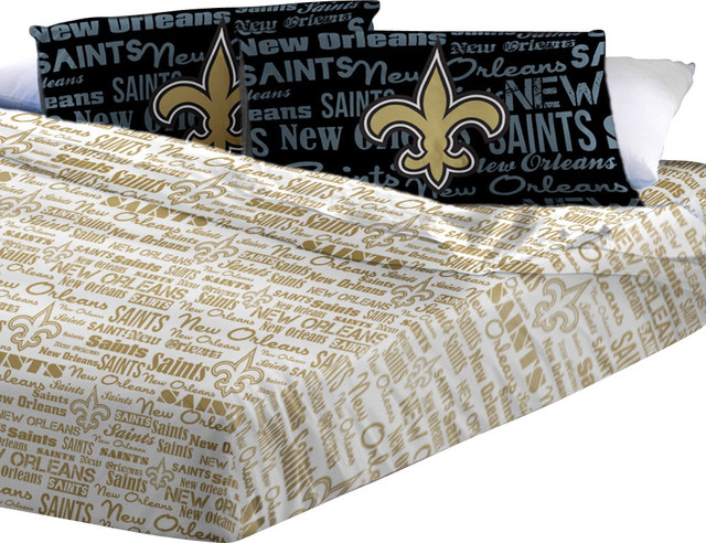 NFL New Orleans Saints Full Sheets Football Anthem Bedding contemporary-kids-bedding