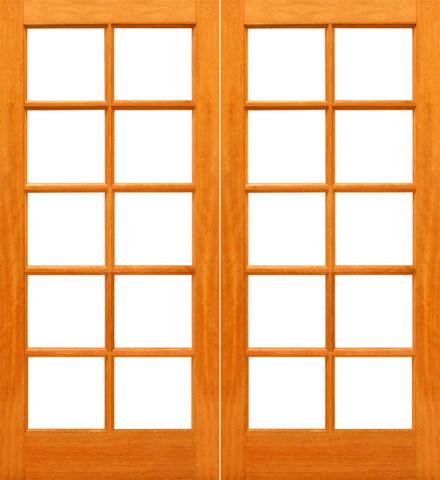 Red Oak 10 Lite Interior Red Oak Wood Ig Glass Double Door Craftsman Interior Doors Tampa