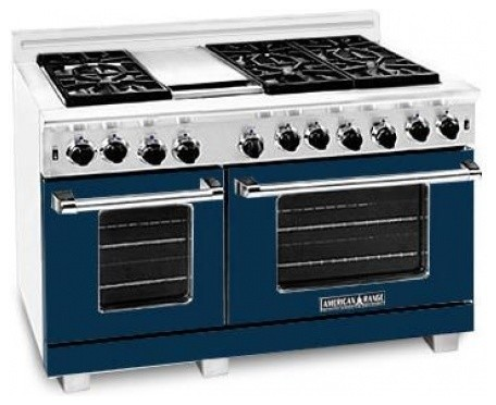 """ARR-4842GRDB Heritage Classic 48"""" Freestanding Natural Gas Range With 4 Sealed B contemporary-gas-ranges-and-electric-ranges"""