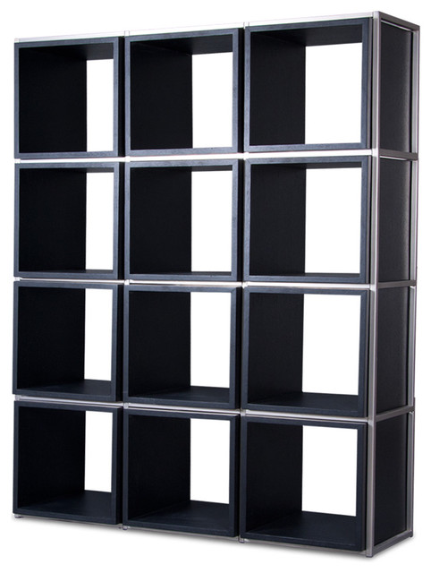 Grid I Black Shelving Unit modern-display-and-wall-shelves
