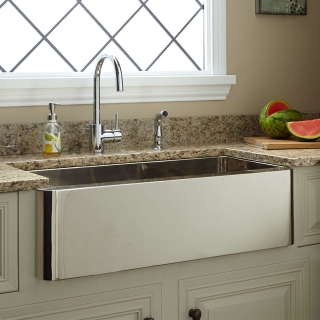 33 keely nickel plated copper farmhouse sink