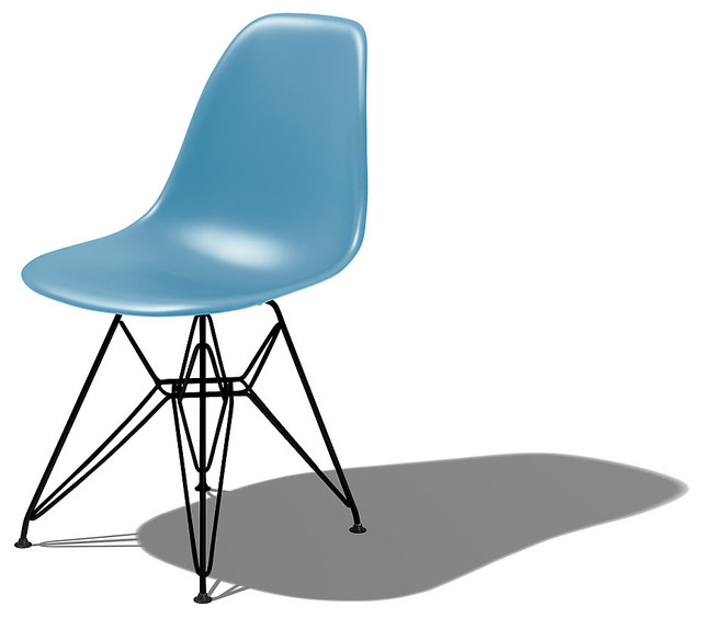 Herman Miller Eames Molded Plastic Side Chair Midcentury