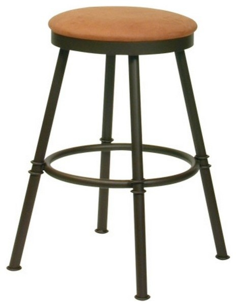 Trica Sal Swivel Backless Bar Stool transitional-bar-stools-and-counter-stools
