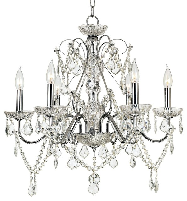 Crystal Vienna Full Spectrum™ Chrome and Crystal Chandelier traditional chandeliers