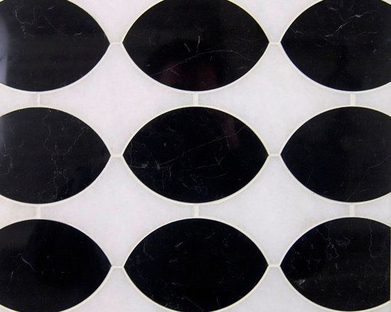 Stone Mosaic - Stock in Trade Collection stone mosaic | Exposition Pattern shown in Nero Marquina + Thassos