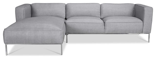 Tate Sectional Sofa Silver (R) contemporary sectional sofas